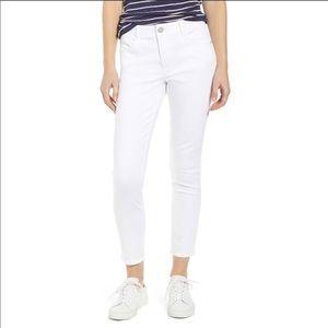 NWT Wit & Wisdom White Crop Jeans